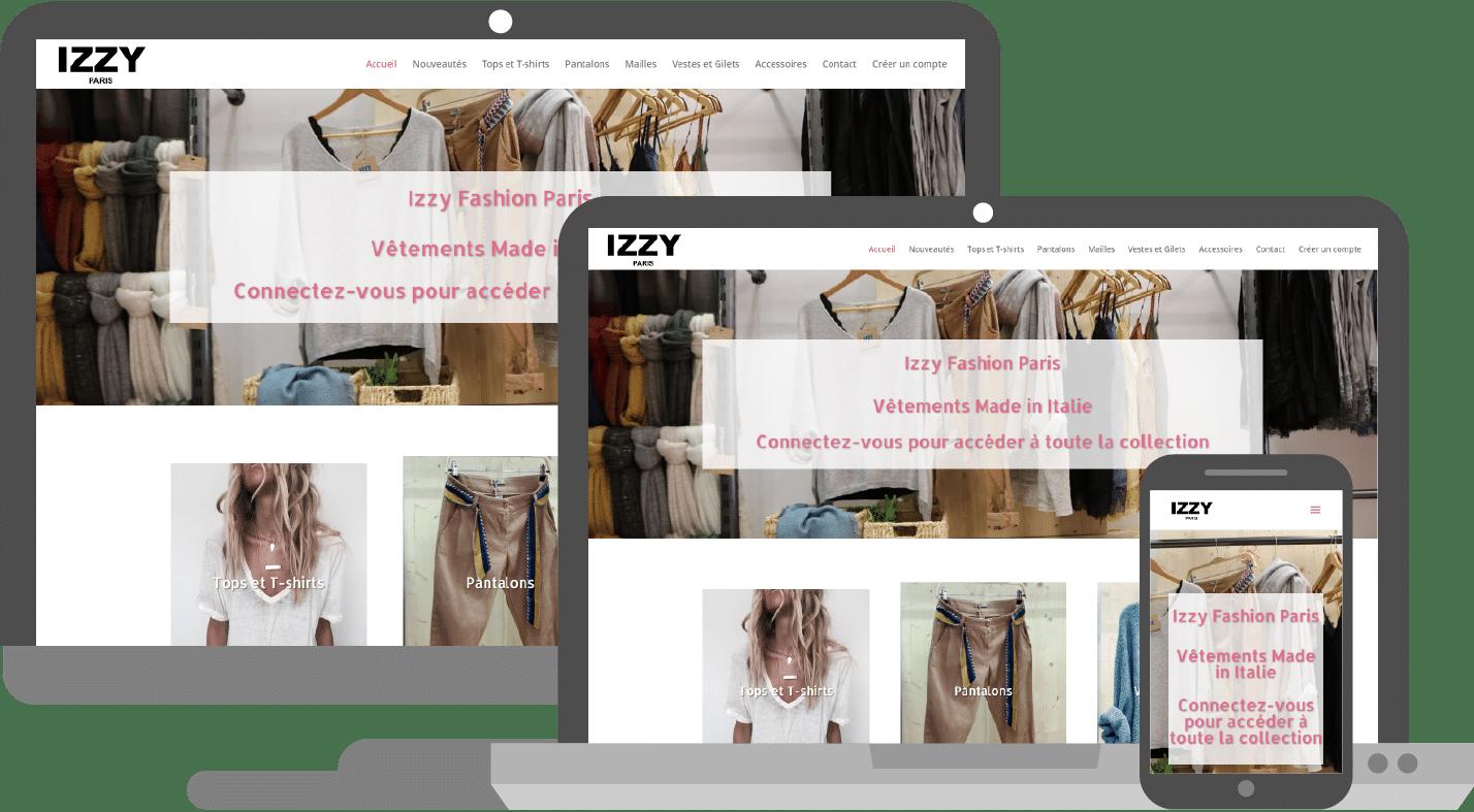 Présentation site Izzy Fashion