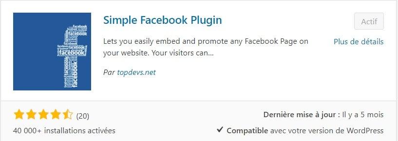 Simple Facebook Plugin